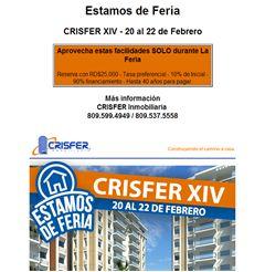 CRISFER XIV - 20 al 22 de Febrero, Reserva con RD$25,000- Publicidad