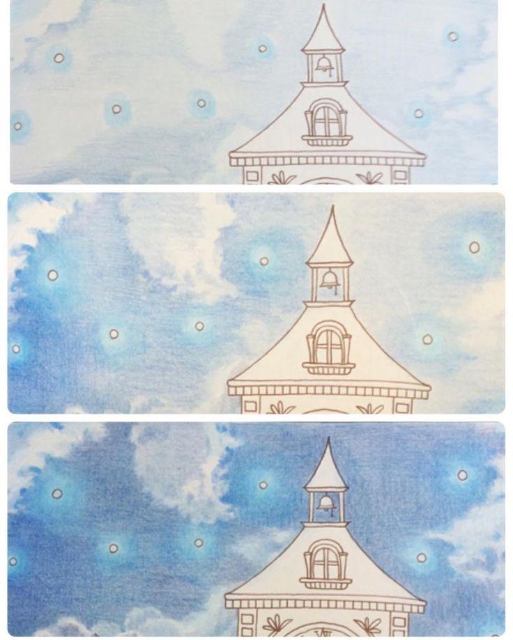 @nuuun29 さん☺︎ @eri_mitsu さん☺︎ 空の途中経過です。少しでも伝われば良いのですが…。 最初、色鉛筆の方向は出来るだけ横に塗るように意識してます。後半になってからは縦でも塗ったりしました。あと、光の当たる部分は明暗がはっきりするので濃い色を使ったり、その反対側は淡くしたりしました。 私なんかが恐縮なのですが、ちょっとでも何かの参考になれば幸いです。 #ロマンティックカントリー #コロリアージュ #塗り絵 #おとなのぬりえ #おとなの塗り絵 #大人の塗り絵 #色鉛筆 #ホルベイン #ホルベイン色鉛筆 #coloriage #adultcoloring #adultcolouringbook #holbein #romanticcountry #eriy #coloringbook