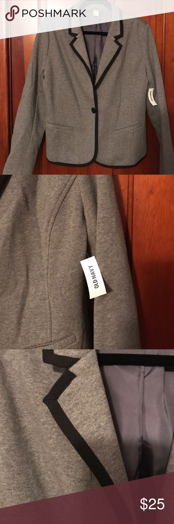 NWT Old Navy Knit Blazer NWT Old Navy knit blazer with grosgrain ribbon trim Old Navy Jackets & Coats Blazers