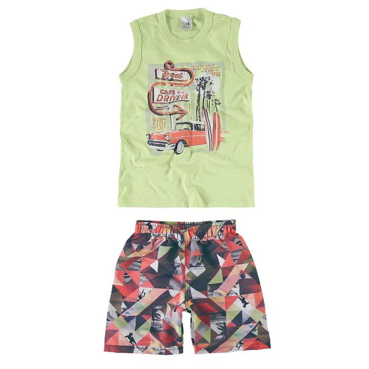 Conjunto Infantil Masculino Malwee Drive-in - KLIN moda infantil