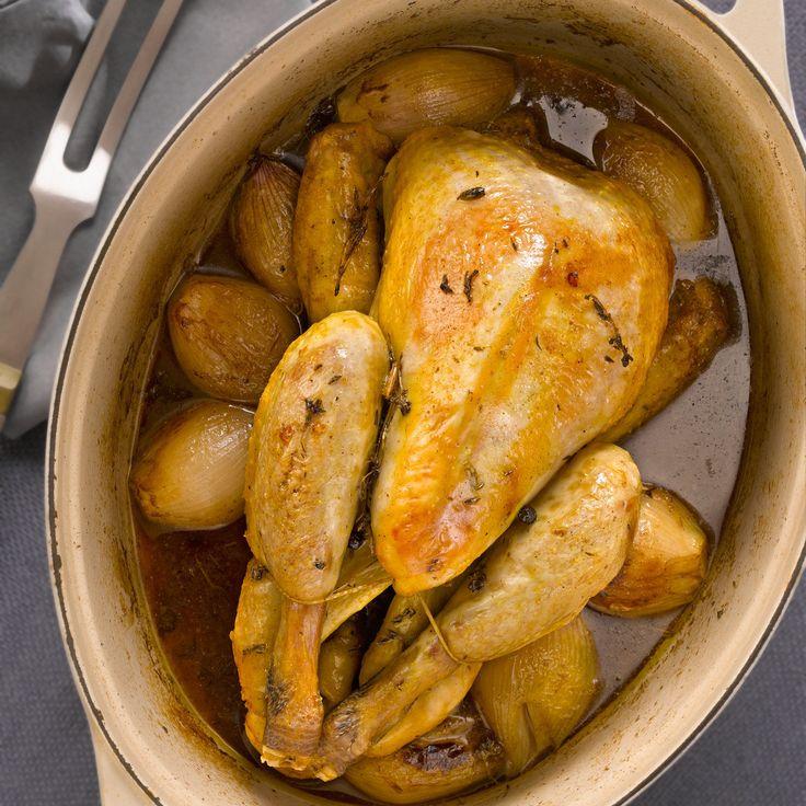 Découvrez la recette Pintade à la bière sur cuisineactuelle.fr.