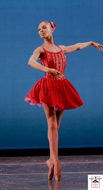"DTH Ensemble dancer Ashley Murphy in Balanchine's"" Glinka Pas de Trois""  Classical technique gains you an entrance into the Balanchine style but by no means assures it."