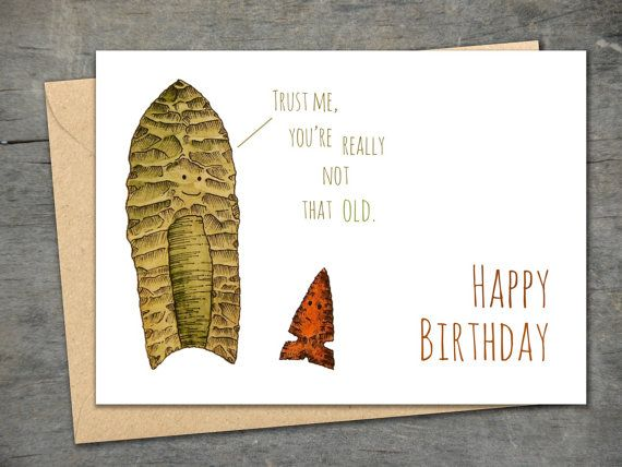 Funny Archaeology Card Clovis Point and by ...