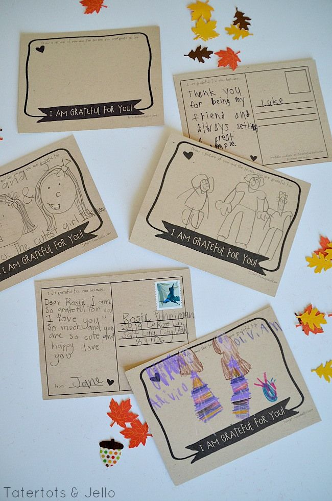 Have a Grateful Heart-- Free Thanksgiving Printable Postcards & Hostess Gifts!! -- Tatertots and Jello