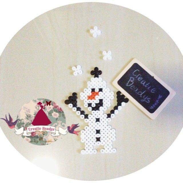 Olaf Fozen Hama beads by creatiebeadys