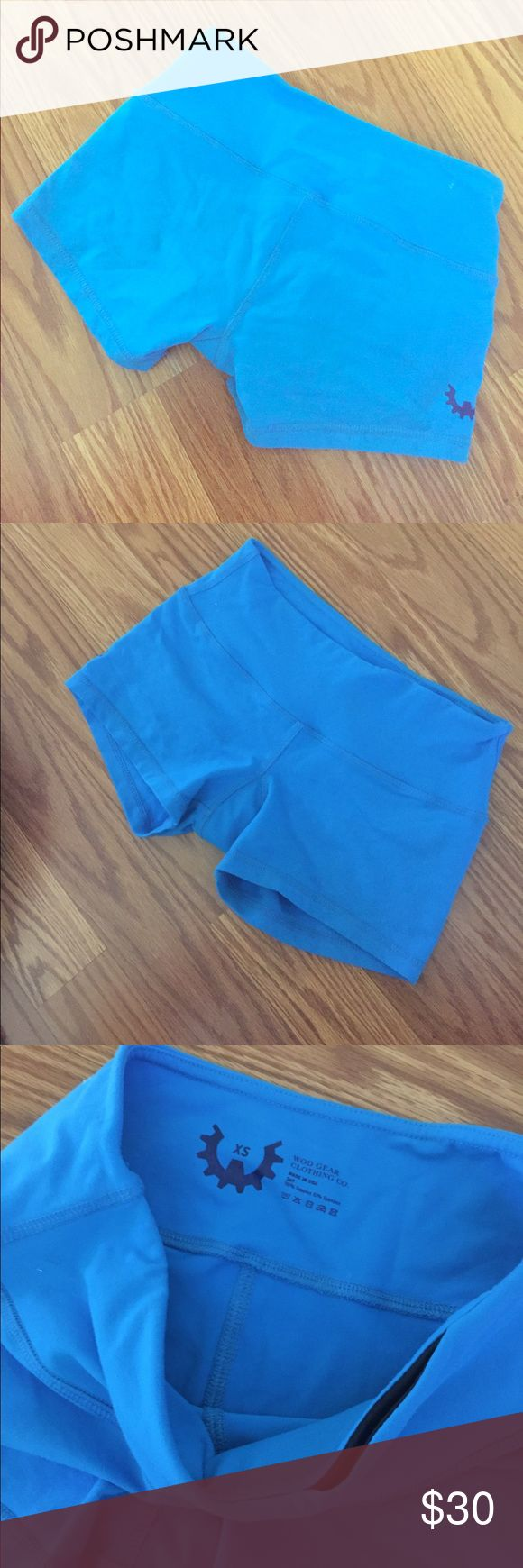 """Like New! WOD Gear Booty Shorts Love them but a little small for me. No signs of wear!! Crossfit / workout booty shorts - looks like a 2"""" inseam. Color is a bright medium blue - 2nd and 3rd pics are most accurate. WOD Gear Shorts"""