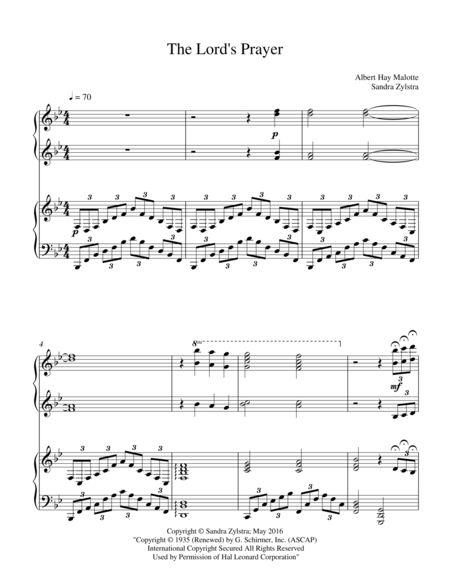 the prayer sheet music piano pdf
