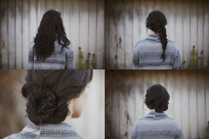 Fishtail Bun (http://sincerelykinsey.blogspot.com/2012/11/fishtail-bun-hair-tutorial.html)