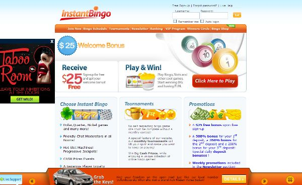 Enjoy this bonus at Instant Bingo. A $25 free bonus upon registration >> jackpotcity.co/i/109.aspx