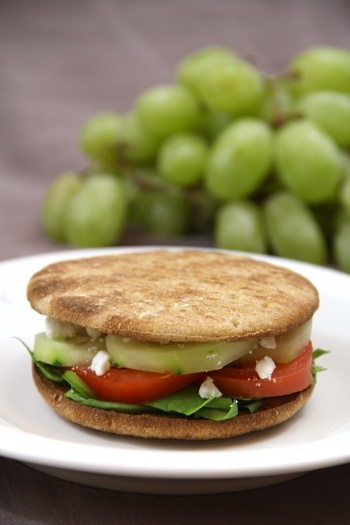 Vegetarian Greek Sandwiches. Delicious, healthy, and ready in less than 10 minutes!
