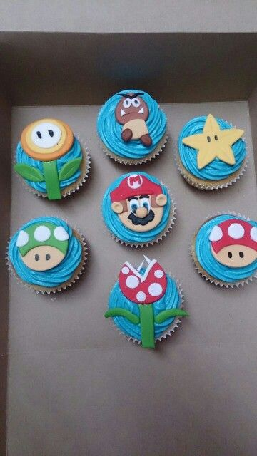 Mario Brothers cup cakes