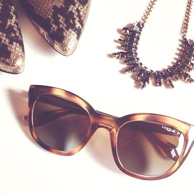 Brown + gold favorites | #vogueeyewear #stylemiles #fashion #beauty #lifestyle #inspiration