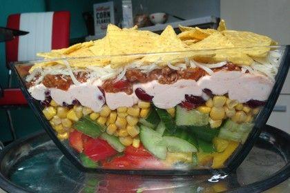 Taco - Salat, ein raffiniertes Rezept aus der Kategorie Raffiniert & preiswert. Bewertungen: 116. Durchschnitt: Ø 4,7.