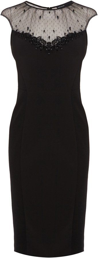 Pin for Later: 30 of the Best Little Black Party Dresses  Karen Millen beaded cocktail dress (£215)