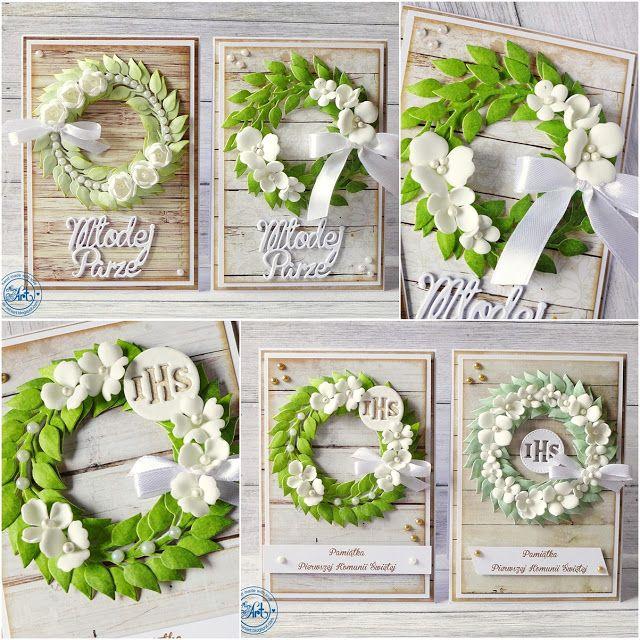 MiniArt - hand made with love: Wianuszki na ślub i komunię / Wreaths for wedding and communion - DT Craft Passion