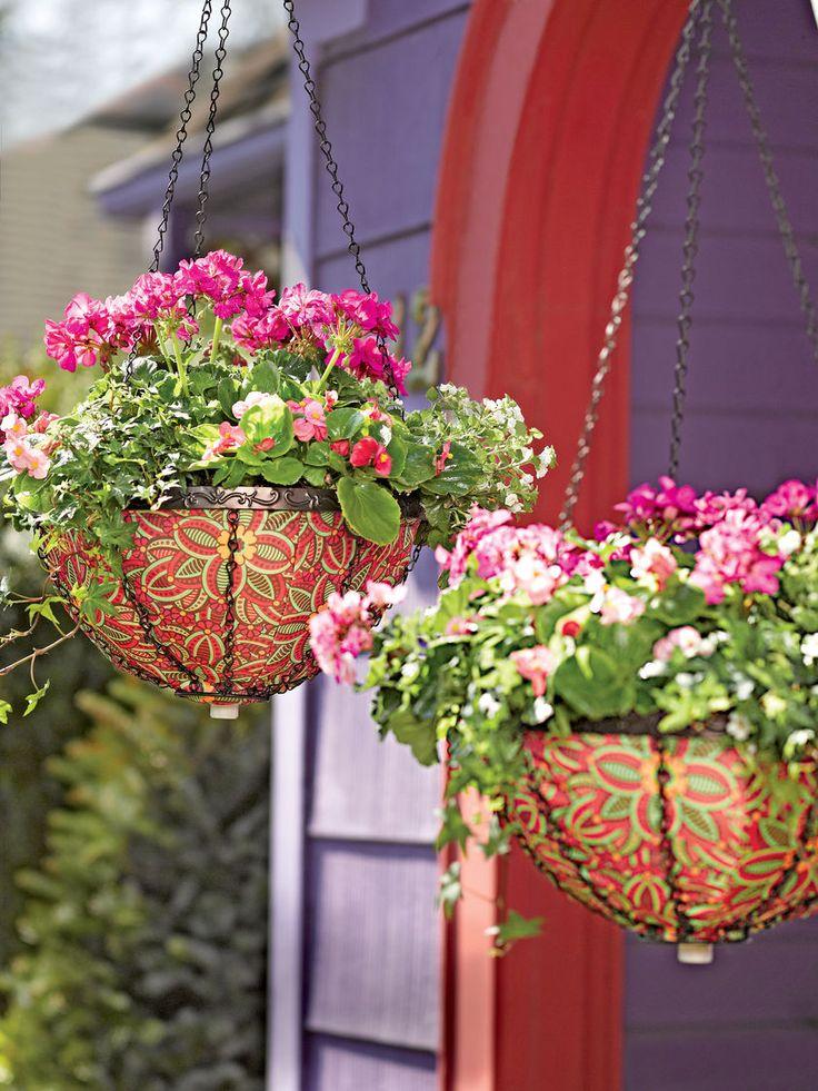 25 best ideas about flower baskets on pinterest plastic. Black Bedroom Furniture Sets. Home Design Ideas