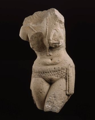 Torso of a fertility goddess (yakshi), from the Great Stupa at Sanchi