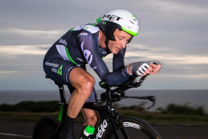 He might look knackered and though his helmet doesn't fit but Steve Cummings is on way to winning the British TT title