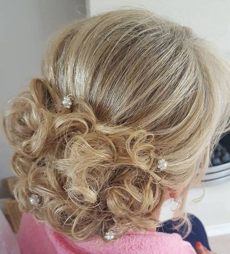 Mother Of The Bride Blonde Curly Updo