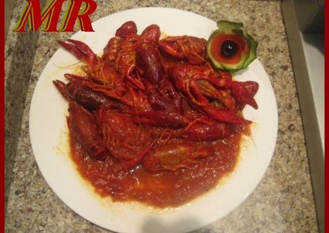 Cangrejos de rio en salsa