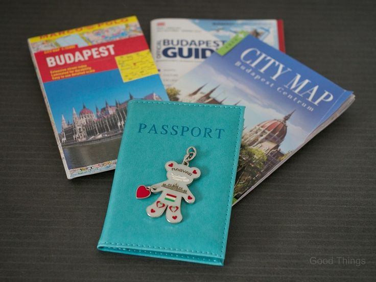 Maps of Budapest, passport and Budapest city guide with a Magyar key ring by Liz Posmyk Good Things