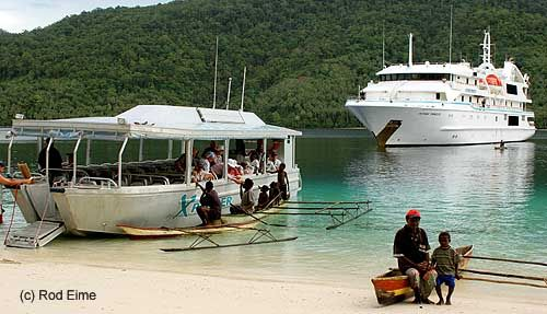 Cruise PNG islands.