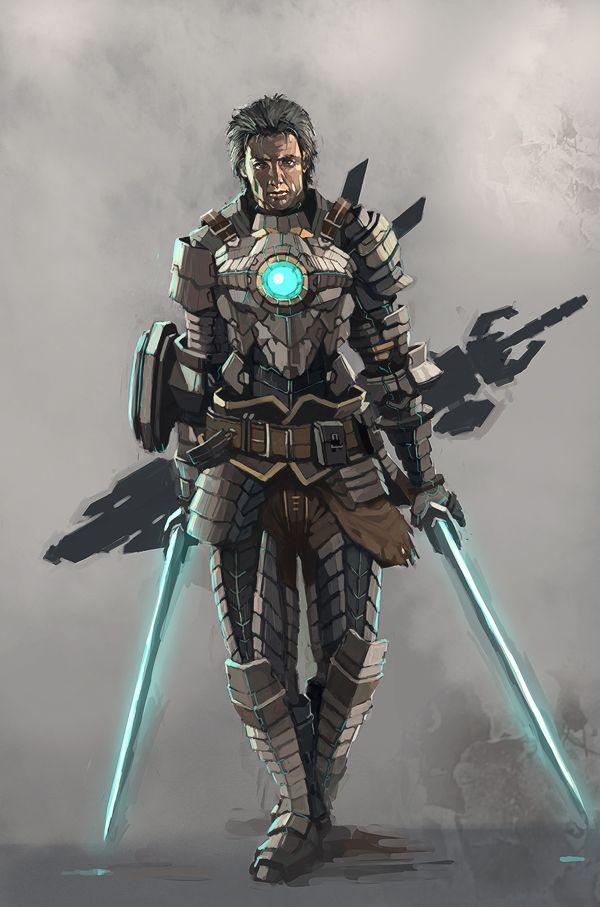 Character And Npc Design : Cyber knight by longai viantart on deviantart