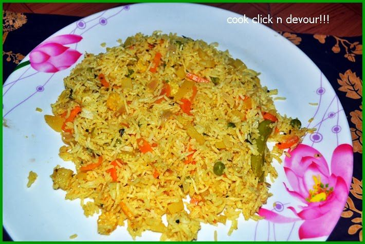 Restaurant style vegetable pulao recipe - Cook click n devour!!!