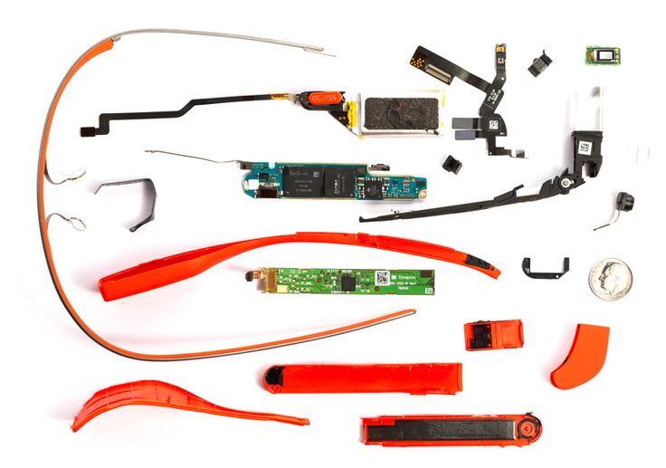 What's Inside Google #Glass by @Scott Torborg & Sparkfun | Fascinating look inside the process AND the device, with a wealth of photos.