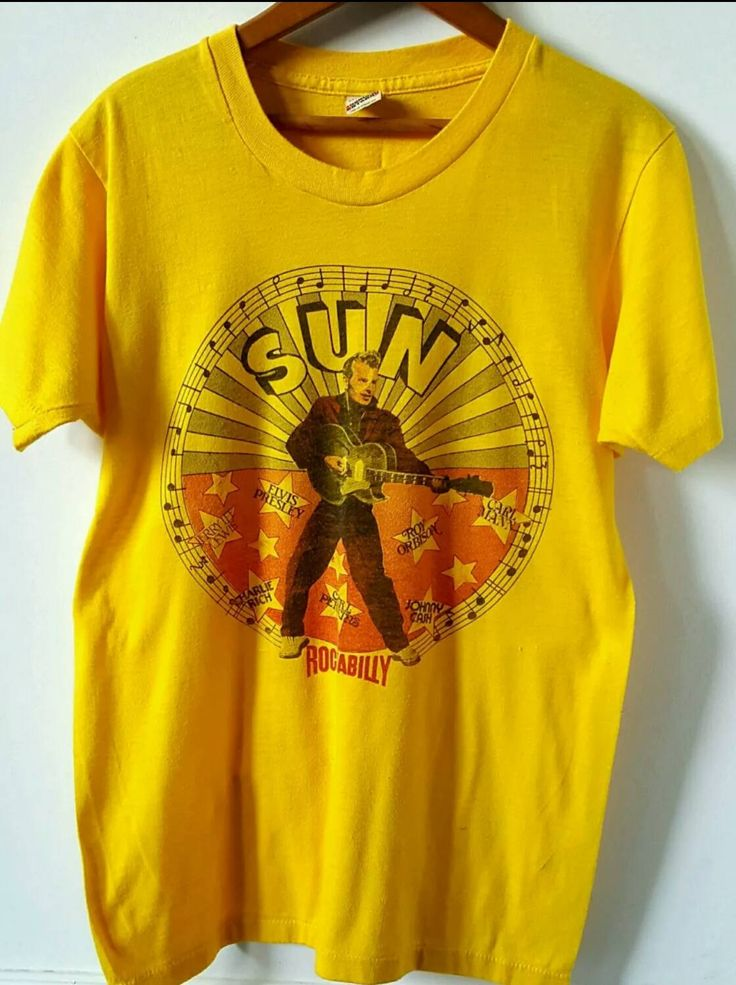 Rockabilly Shirt, Sun Records Music Shirt, Screen Stars T-shirt Medium by ResouledGypsy on Etsy