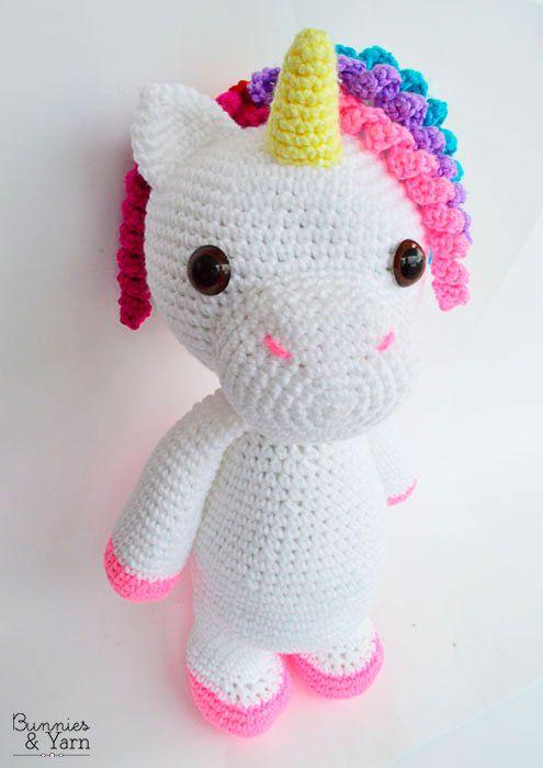CROCHET PATTERN Mimi the Friendly Unicorn 16 by BunniesandYarn