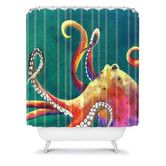 Found it at AllModern - DENY Designs Clara Nilles Woven Polyester Mardi Gras Octopus Shower Curtain