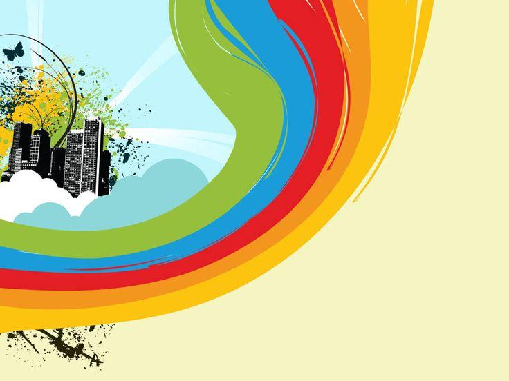 Free Rainbow Powerpoint Template Costumepartyrun