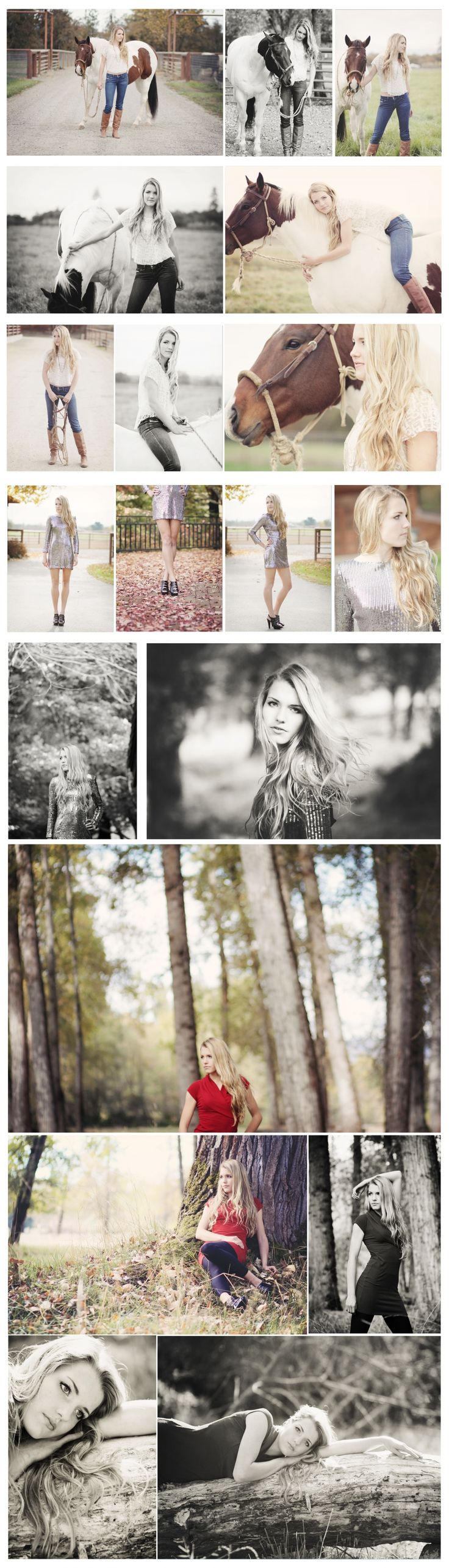 Senior Session, horse and sequins.