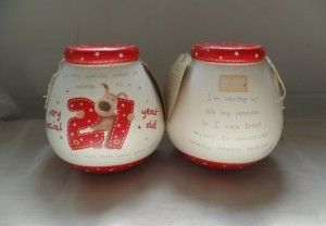 Awesome 21st Birthday Gifts: Pot of Dreams - Ceramic Money Box - Boofle 21st Birthday