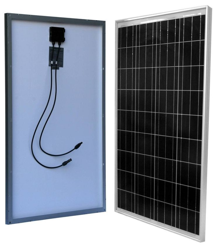 100 Watt Solar Panel For 12 Volt Battery Charging Rv Boat