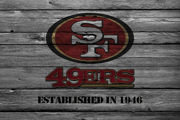 49ers Print featuring the photograph San Francisco 49ers by Joe Hamilton || #Prints available on Fine Art America || http://fineartamerica.com/products/24-san-francisco-49ers-joe-hamilton-art-print.html