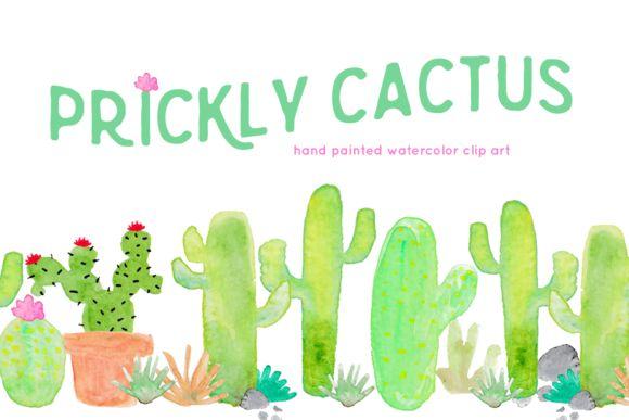 Cactus Watercolor Clip Art by Bella Love Letters on @creativemarket S:\Marketing\_MOM\Creative Market Freebies\Cactus-Watercolor-Clip-Art.zip