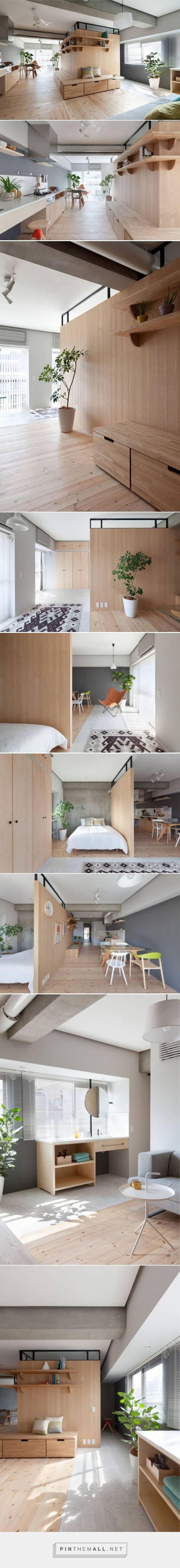 Clever minimalist partition expands 689 sq. ft. Tokyo apartment : TreeHugger - created via https://pinthemall.net