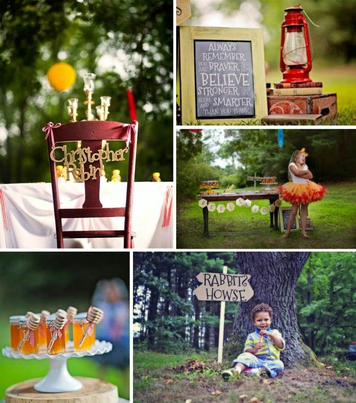 Winnie the Pooh Birthday Party with Lots of Really Cute Ideas via Kara's Party Ideas | KarasPartyIdeas.com #PoohBear #HundredAcreWoods #PartyIdeas #S...