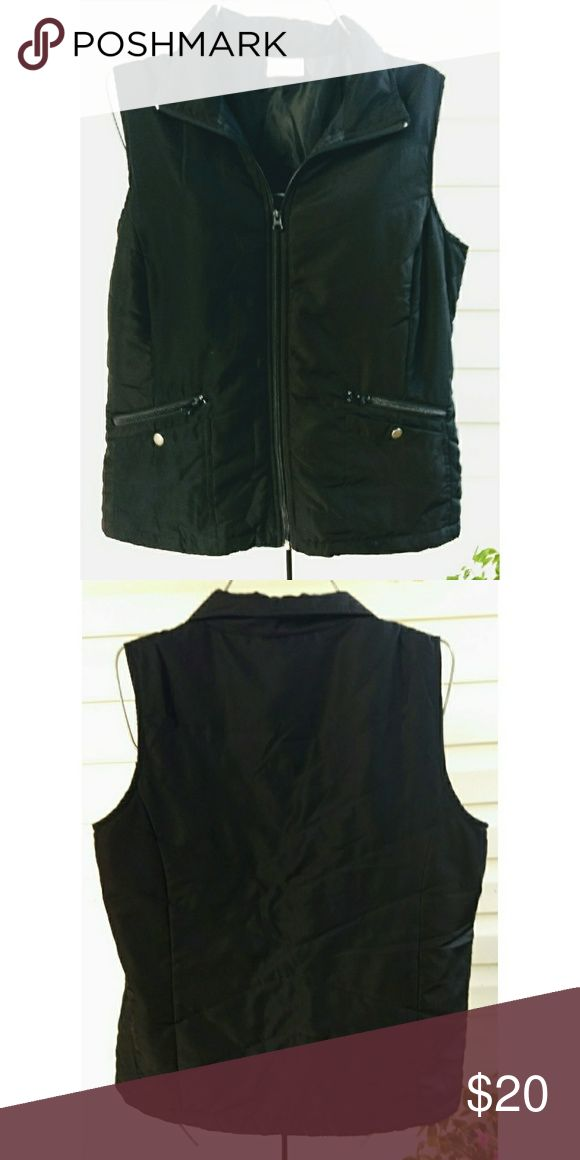 Women's Active Wear Be Inspired brand Women's Active Wear Black Zip-up Vest, only worn a couple of times be inspired Jackets & Coats Vests