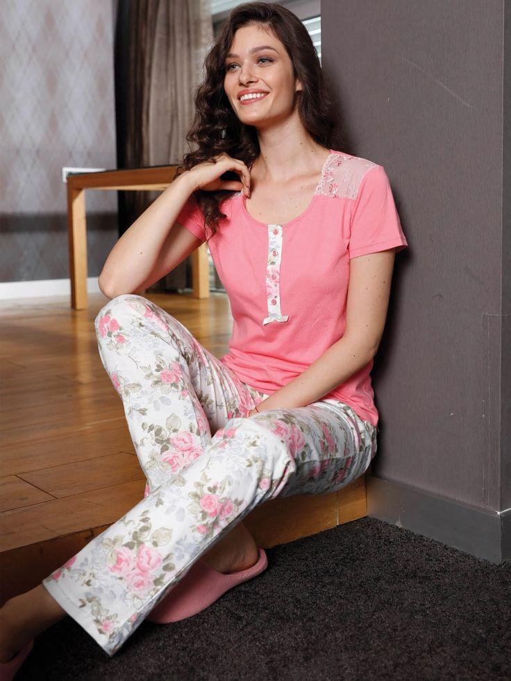 Yeni İnci BPJ 1088 Bayan 3'lü Pijama Takım #markhacom #annelergünü #anneler #günü #hediyeleri #annelergünühediyesi #anne #bahar #alışveriş #evgiyimi #pijama #çiçekdeseni #hediye