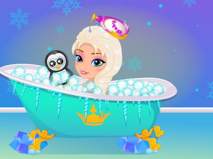 Baby Elsa Frozen Shower  http://www.enjoydressup.com/baby-games/baby-elsa-frozen-shower-8547.html