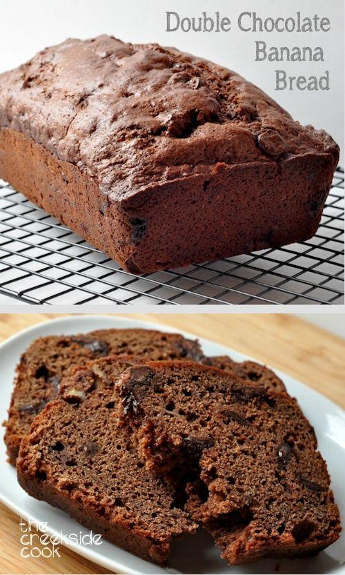 ... and amazing - Double Chocolate Banana Bread | The Creekside Cook