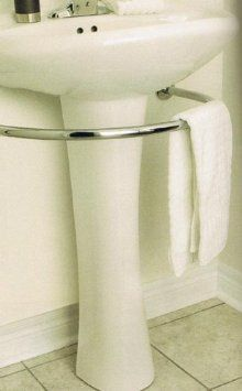 Amazon.com - PEDESTAL sink TOWEL BAR rack bath BATHROOM hardware -