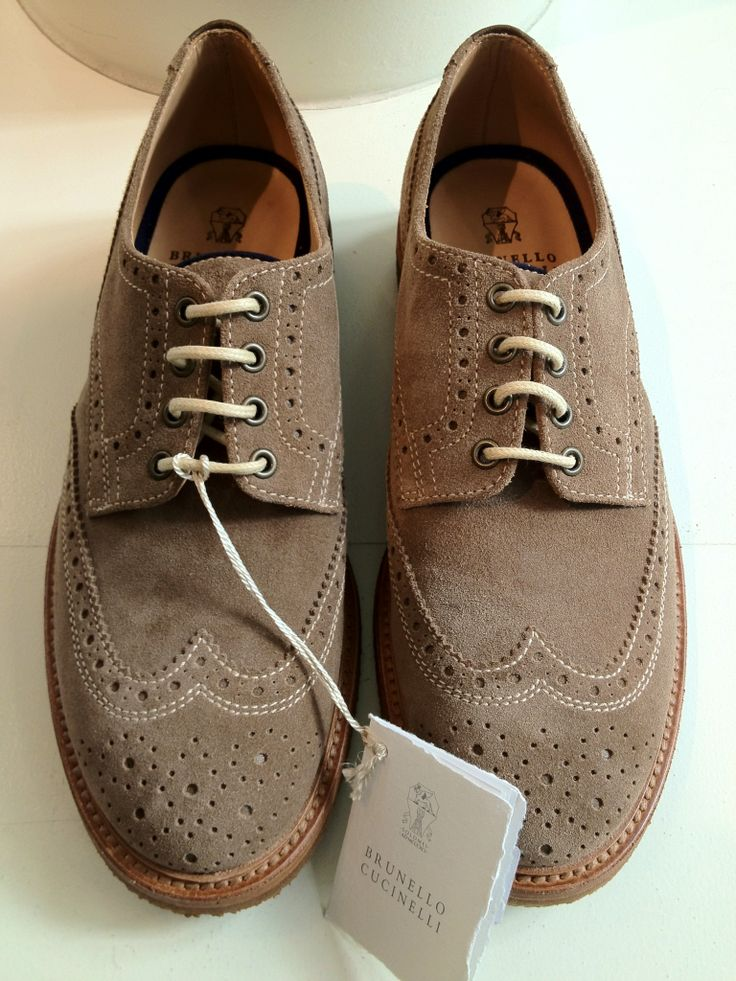 samatmarios:  Brunello Cucinelli tan suede wingtip for spring.: Clothes Style Accessories, Men S Fashion, Mens Fashion, Mens Clothes, Men Shoes, Classic Shoes, Mens Footwear