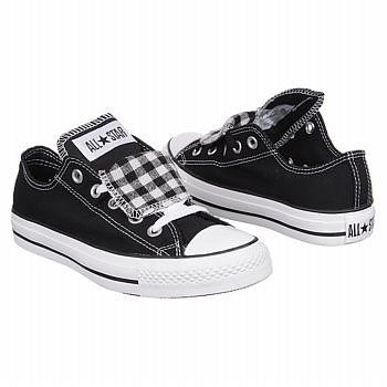 Athletics Converse Women's All Star Lo Plaid Black/ White FamousFootwear.com
