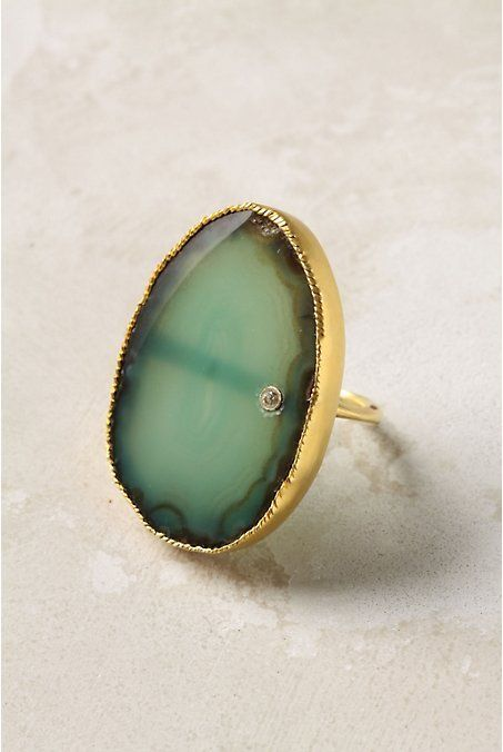 stone: Statement Rings, Gorgeous Rings, The Ocean, Beautiful Mark, Natural Stones, Gold Rings, Wedding Rings, Green Rings, Engagement Rings