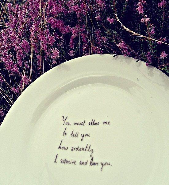 """Kan det bli mer romantiskt? Citatet är från Jane Austens """"Stolthet och fördom"""""""