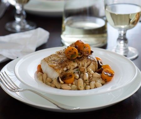 Roasted Black Cod with Fennel and White Bean Mash